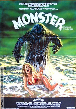 Humanoids from the Deep 1980 poster Doug McClure