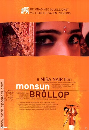 Monsoon Wedding 2001 poster Mira Nair