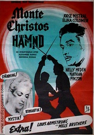 Monte Christos h�mnd 1961 Movie poster Elina Colomer