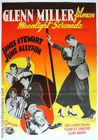 The Glenn Miller Story 1954 Movie poster Glenn Miller