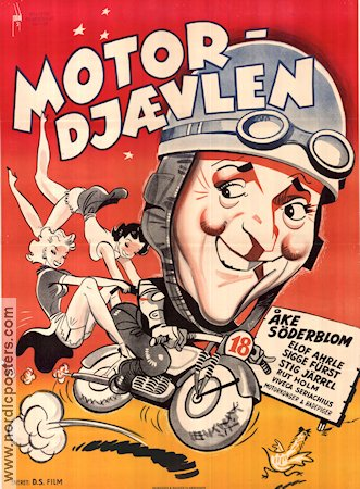 Motorkavaljerer 1950 Movie poster �ke S�derblom