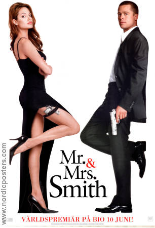 Mr and Mrs Smith 2005 poster Brad Pitt