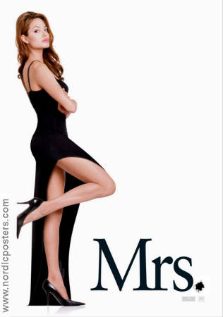 Mr and Mrs Smith 2005 poster Angelina Jolie