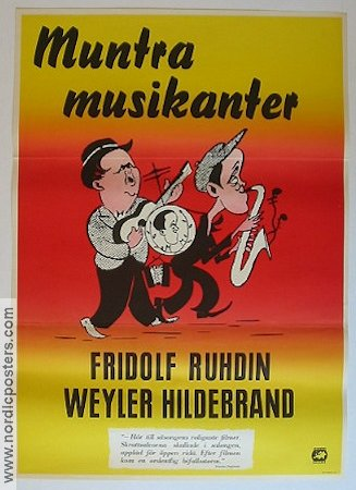 Muntra musikanter 1932 Movie poster Fridolf Rhudin
