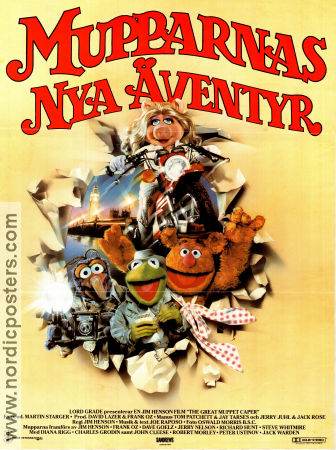 The Great Muppet Caper 1982 Movie poster The Muppets Jim Henson