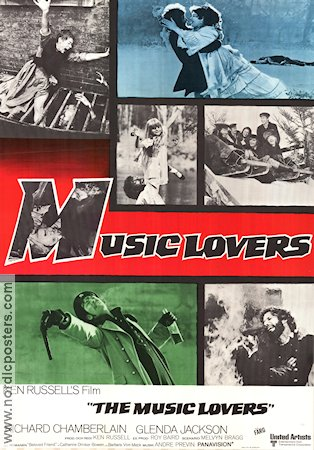 The Music Lovers 1971 Ken Russell Richard Chamberlain Glenda Jackson