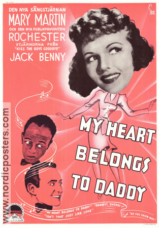 My Heart Belongs to Daddy 1942 Movie poster Mary Martin