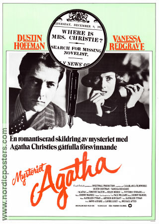 Agatha 1979 Movie poster Dustin Hoffman