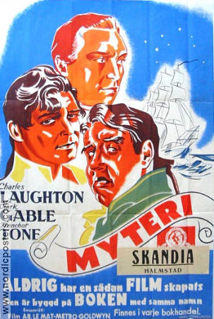 Mutiny on the Bounty 1936 poster Charles Laughton