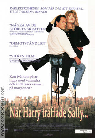 When Harry Met Sally 1989 poster Billy Crystal Rob Reiner