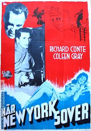 The Sleeping City 1950 poster Richard Conte