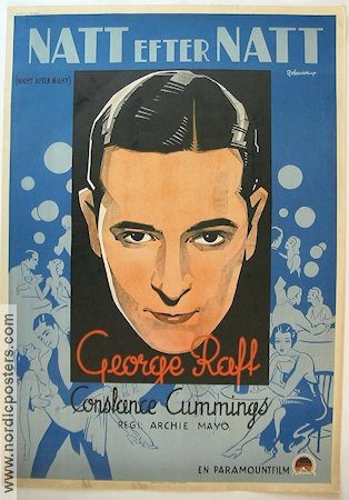 Night After Night 1933 poster George Raft