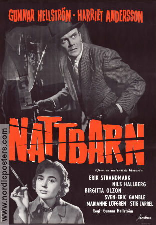 Nattbarn 1956 Movie poster Gunnar Hellstr�m