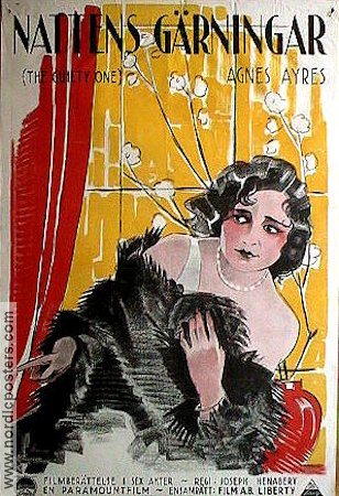 The Guilty One 1924 poster Agnes Ayres