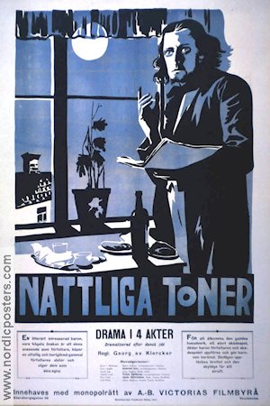 Nattliga toner 1918 Movie poster Manne G�thson Georg af Klercker