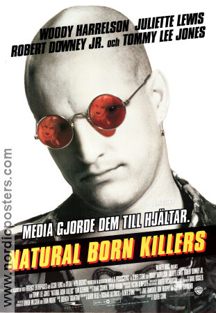 Natural Born Killers 1994 Movie poster Woody Harrelson Oliver Stone