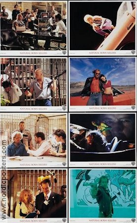 Natural Born Killers 1994 lobby card set Woody Harrelson Oliver Stone
