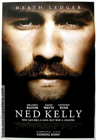 Ned Kelly 2003 Movie poster Heath Ledger