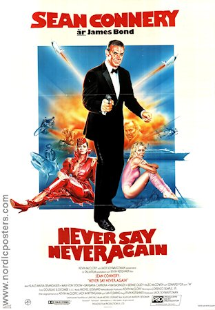 Never Say Never Again 1983 poster Sean Connery
