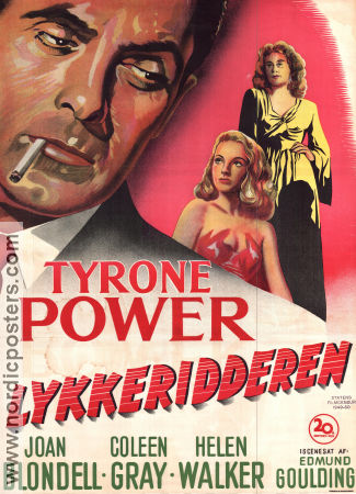 Nightmare Alley 1947 poster Tyrone Power Edmund Goulding