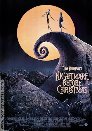 The Nightmare Before Christmas poster 1993 director Tim Burton ...