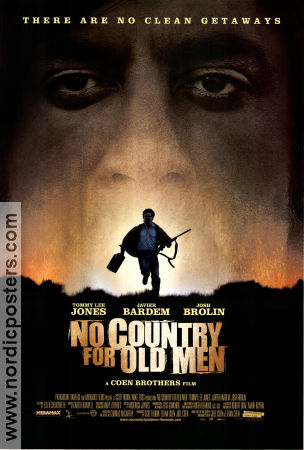 No Country For Old Men 2007 poster Tommy Lee Jones Joel Ethan Coen