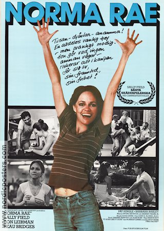 Norma Rae 1979 Movie poster Sally Field