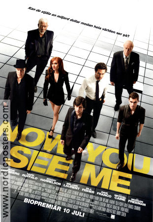 Now You See Me 2013 poster Jesse Eisenberg Louis Leterrier