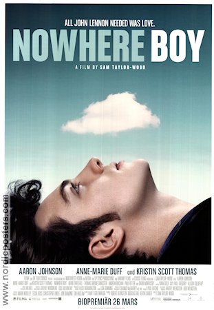 Nowhere Boy 2009 poster Aaron Johnson Sam Taylor-Wood