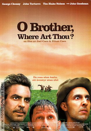 O Brother Where Art Thou 2000 Movie poster George Clooney Joel Ethan Coen
