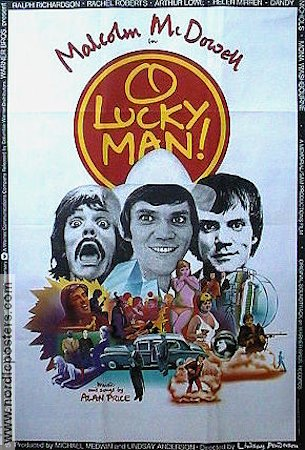 O Lucky Man 1973 Movie poster Malcolm McDowell