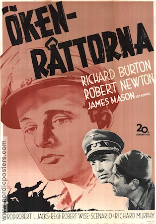 The Desert Rats 1953 Movie poster Richard Burton