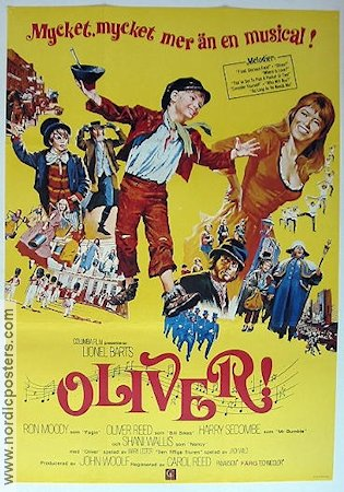 Oliver 1968 Movie poster Ron Moody Carol Reed