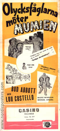 Meet the Mummy 1955 poster Abbott and Costello