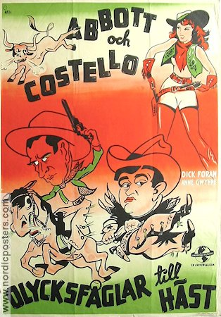 Ride em Cowboy 1944 Movie poster Abbott and Costello