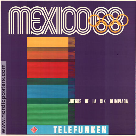 Olympic Games Mexico Telefunken 1968 poster