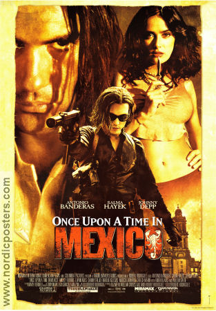 Once Upon a Time in Mexico 2003 poster Antonio Banderas Robert Rodriguez