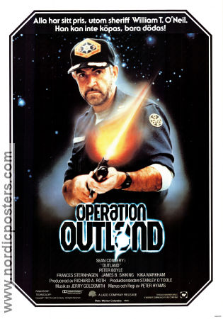 Operation Outland 1981 poster Sean Connery Peter Hyams