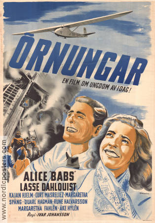 �rnungar 1944 Movie poster Alice Babs Ivar Johansson