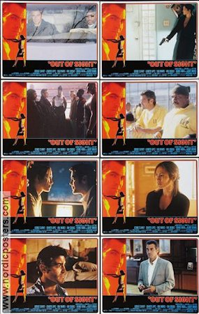 Out of Sight 1998 lobby card set George Clooney
