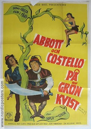 Jack and the Beanstalk 1953 Movie poster Abbott and Costello