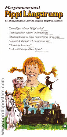 Pippi on the Run 1970 poster Inger Nilsson Olle Hellbom