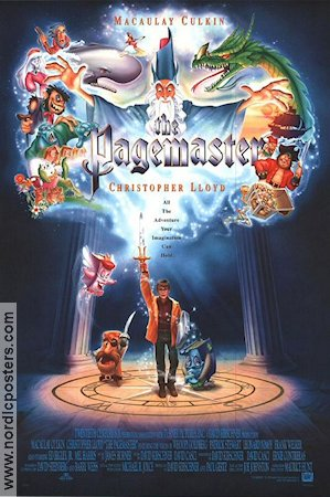 The Pagemaster 1993 poster Macaulay Culkin