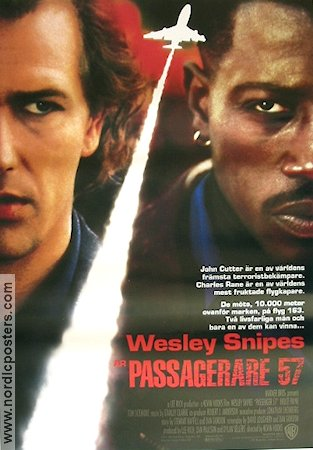 Passenger 57 1992 Movie poster Wesley Snipes