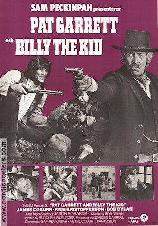 Pat Garrett and Billy the Kid 1973 Movie poster James Coburn Sam Peckinpah