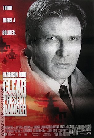 Clear And Present Danger Poster Usa 1994 Harrison Ford Original