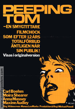 Peeping Tom 1973 Michael Powell Carl Boehm Moira Shearer Anna Massey