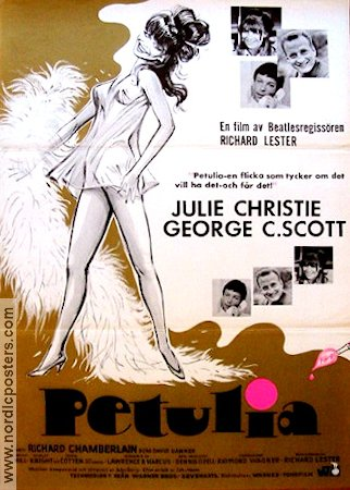 Petulia 1968 poster Julie Christie Richard Lester