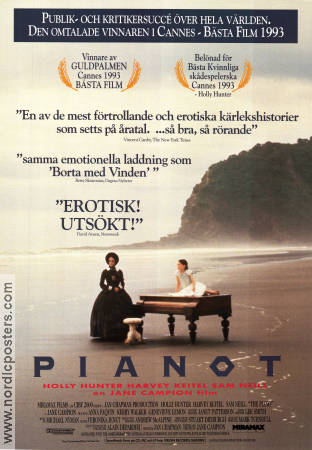The Piano 1992 Movie poster Holly Hunter