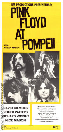 Pink Floyd at Pompeii 1978 Movie poster Pink Floyd